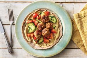 Mini Lebanese Beef Meatball & Salad Wraps image