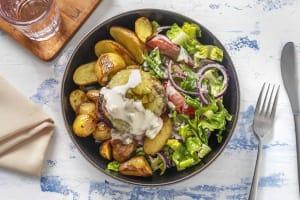 Limousinburger met frisse salade image