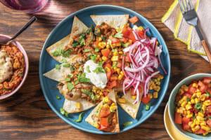 Loaded Mexican Lentil Nachos image