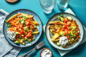 Loaded Lentil Chili-Cheese Potato Wedges image