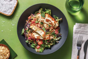 Haloumi & Creamy Roast Veggie Salad image