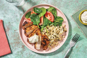 Chermoula Pork & Cauliflower Rice Bowl image