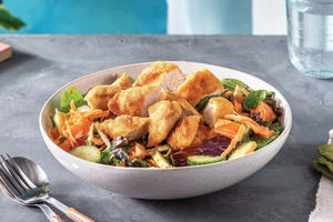 Crumbed Chicken Salad with Creamy Garlic Dressing image