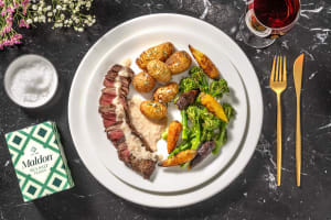 Fillet Steak and Creamy Peppercorn Sauce image