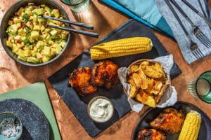 Caribbean Style Mango Glazed Jerk Chicken image