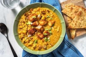 Mango Chutney Coated Halloumi & Sweet Potato Dal image