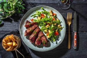 Matured Sirloin Steak and Wedges image