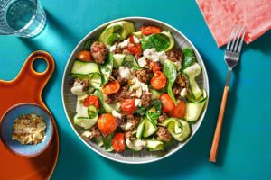 Mediterranean Beef and Zucchini Ribbons image
