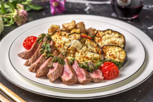 Mediterranean Lamb Loin with Garlicky Crushed Potatoes image