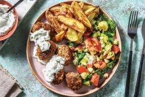 Mediterranean Beef Meatballs & Tzatziki image