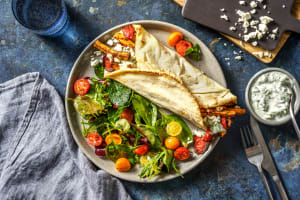 Mediterranean Spiced Sweet Potato Wrap image