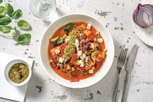 Mediterranean Veggie & Chickpea Stew with Olives & Fetta image