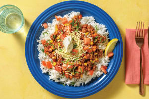 Mexican Beef Burrito Bowl with Cheddar & Sour Cream image