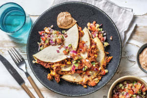 Mexican Cheesy Bean Quesadillas image