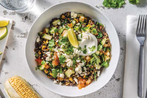 Mexican Quinoa Bean Bowl with Lime, Zesty Yoghurt & Fetta image