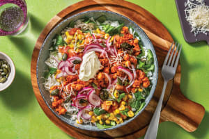 Mexican Smashed Chickpea Rice Bowl image