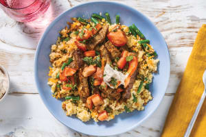 Chermoula Beef Strips & Carrot Couscous image