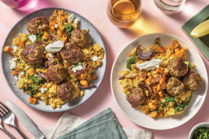 Middle Eastern-Style Beef & Feta Meatballs image