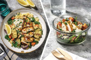Spiced Yoghurt Chicken with Roast Veggie Couscous for Dinner image
