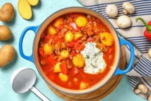 Chorizo-aardappelstoof met spekjes image