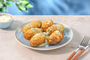 Mini Cheesy Hassleback Potatoes image
