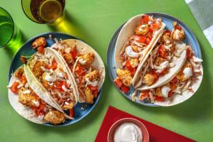 Mini-tortilla's met krokante kip en mangochutney image