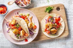 Mini-tortilla's met knapperige garnalen en venkel image