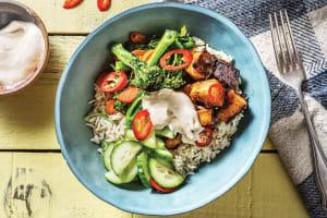 Miso Glazed Tofu Bowl image