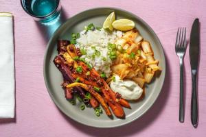 Miso-Möhren mit weißem Blitz-Kimchi image