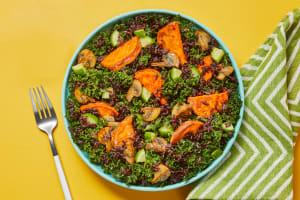 Black Rice, Mushroom & Miso Kale Salad image