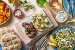 Mixed-grillschotel: souvlaki en kofta image