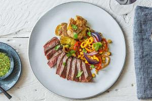 Mojo-Drizzled New York Strip Steak image