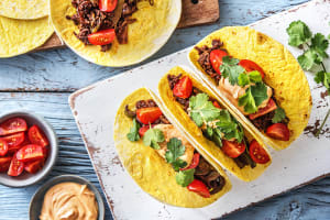 Mole-Spiced Beef Tacos image