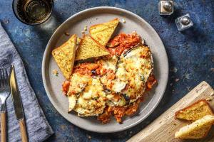 Moussaka végétarienne aux lentilles corail & aubergine image