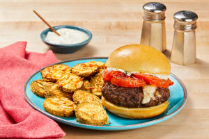 Mozz-Stuffed Caprese Burgers image