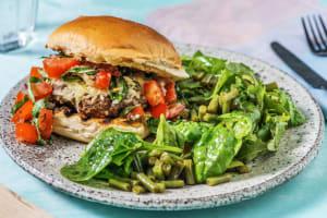 Mozzarella Bruschetta Burgers image