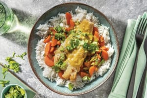 Pan-Seared Fish & North Indian Coconut Sauce image
