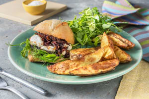 Mushroom and Goat's Cheese Burger image