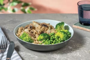 Mushroom Risotto With Shaved Parmesan image