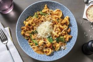 Quick Creamy Beef & Veggie Pasta image