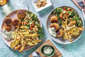 Nan's Pork Rissoles & Cheesy Fries image