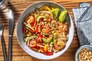 Salade de nouilles aux crevettes et à la mangue image