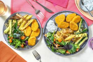 Nuggets de blé sauce ranch & frites de courgettes image
