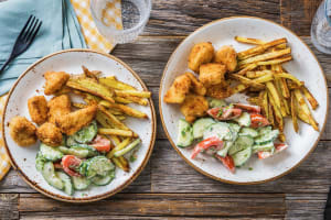Nuggets de poulet et frites maison image