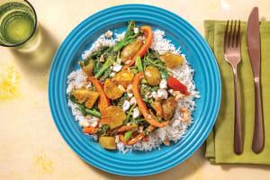 Bengal & Coconut Potato Curry with Basmati Rice image