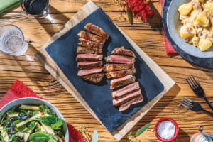 Chargrilled Sirloin Steak & Cheesy Bacon Potatoes image