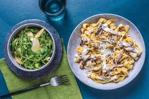 Creamy Mushroom & Rosemary Fettuccine image