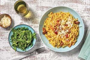 Creamy Tomato & Chorizo Fettuccine image