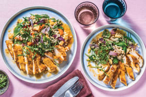 Sticky Apricot Chicken & Veggie Israeli Couscous image