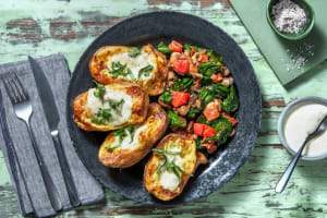 Ofenkartoffel überbacken mit Mozzarella image